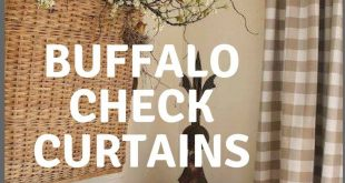 Buffalo Check Curtains. 2 Panels of 50x84. Linen Buffalo Checkmate Curtains. Bed...