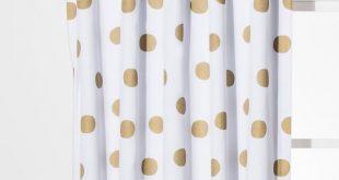"""Dot Blackout Curtain Panels Gold (42""""x63"""") - Pillowfort"""