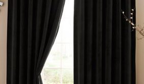 Absolute Zero Velvet Blackout Home Theater Curtain Panel 50-In. X 63-In. - Black - 50 X 63