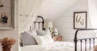 43+ best farmhouse bedroom decor ideas 4 | recipeess.com