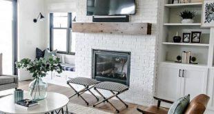 96+ gemütliche moderne Bauernhausstil Wohnzimmer Dekor Ideen #Livingroomideas #Livin