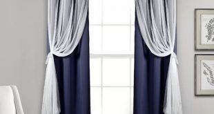 Busselton Sheer Solid Blackout Thermal Grommet Curtain Panels