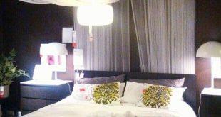 IKEA Bedroom Design: Drape sheer fabric panels from curtain rod mounted on ceili...