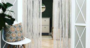 Large Macrame Door Curtains of 2 or 1 Panels, Macrame Window Curtain, Large Macrame Wedding Alter, Macrame Wall Hanging, Boho Altar Backdrop