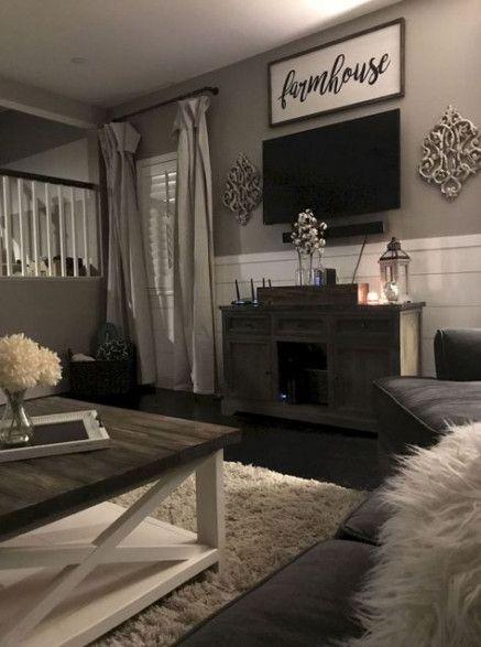 Living Room Farmhouse Curtains Wall Colors 67 New Ideas 2019