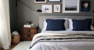 Mod Upholstered Bed Set, Full, Distressed Velvet, Light Pink, Wood Leg
