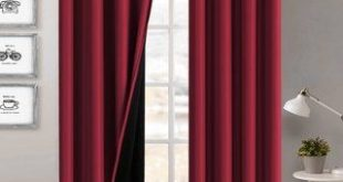 PrimeBeau 100% Blackout Lined Insulated Energy Saving Curtains 2-Pack (63 Inches - Plum), Purple(100% Synthetic, Solid)
