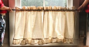 Ruffled Cafe Curtains, by High Cotton Textile