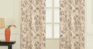 United Curtain Co. Fiona Nature/Floral Semi Sheer Grommet Curtain Panels & Revie...