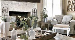 01 Rustic farmhouse living room design and decor ideas for your home #decor #design #farmhou...
