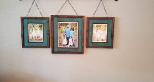 3 piece Industrial farmhouse picture frames   rustic photo frame set holds 1) 8x10 and 2) 5x7 's . Photo displays photo wall