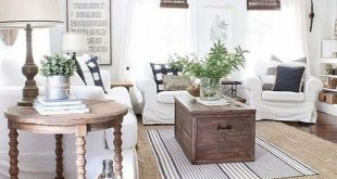 48+ Amazing Rustic Farmhouse Living Room Design and Decoration Ideas