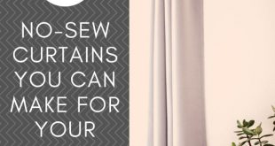 7 No-Sew Curtains That You Can Make For Your Home - There are many ways to go ab...
