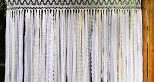 BOHO Curtain~Long Lace Fringe Curtain/Shower Curtain/Wedding Backdrop/Wall Hanging Garland/Photo Bac