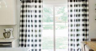 Black Plaid Curtains - Buffalo Plaid - FREE SHIPPING - 2 Panels - Nursery Curtains - Home Decor - Fa
