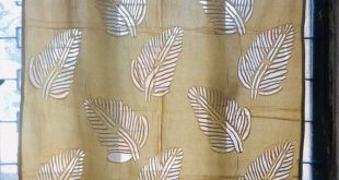 Brown Leaves Organdy Cotton Curtains - Boho Curtains - Sheer Draperies - Long Curtains