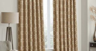 "Charlton Home Ginther Geometric Max Blackout Thermal Rod Pocket Curtains/Drapes Curtain Color: Taupe, Size per Panel: 52"" W x 108"" L"