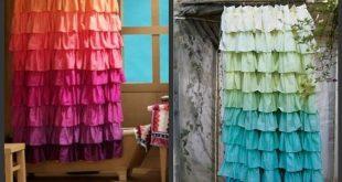 DIY Anthropologie Flamenco Shower Curtain in Sunshine
