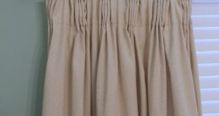 DIY Easy Pleated Curtains {from sloppy to structured