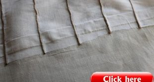 {Easy DIY} No Sew Embellished IKEA Curtain Panels iron on tape to lengthen curt...