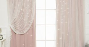 Efird Tulle Overlay Star Cut Out Blackout Thermal Grommet Curtain Panel