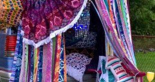 Hippie Vorhänge Boho Vorhang Junk Gypsy Teen Zimmer-Wohnheim-Hippie-Glamping Ho...