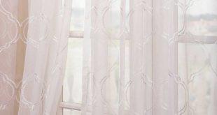 Kelling Geometric Sheer Rod Pocket Single Curtain Panel