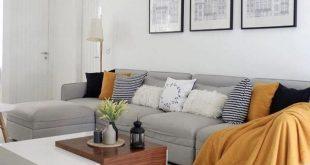 Living Room Yellow Decor - Perfekte Teppiche im Wohnzimmer Dekor drinnen wohnzim...