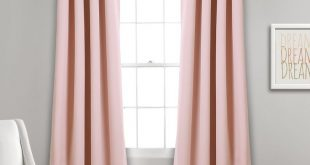 Lush Décor Insulated Grommet Blackout Curtain Panels Pink Pair Set 52x63 - Lush Decor 16T002463
