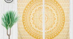 Mandala Boho Curtain   Gypsy Curtains