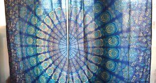 Mandala tapestry curtains, boho curtains, tapestry drapes, mandala wall hanging, indian curtains, boho decor