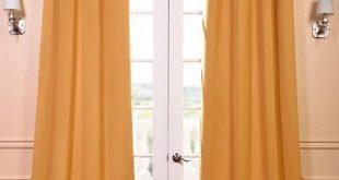 Marigold Grommet Blackout Room Darkening Curtain
