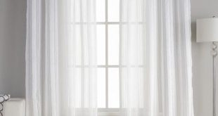 Mcbride Solid Semi-Sheer Rod Pocket Curtain Panels