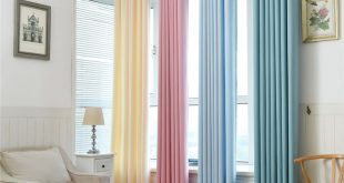 Modern plain Solid color Blackout Curtains for Living Room Sheer Curtains for Kitchen window curtain Bedroom Custom Finished