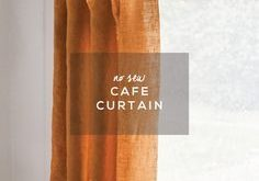 No Sew Cafe Curtain