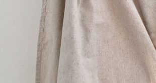 Not your average no-sew drop cloth curtains