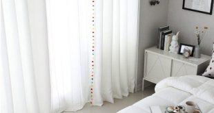Pom Pom Blackout Curtains, Kids Blackout Curtains, White Blackout Curtains, Curtains Nursery, Bedroom Curtains, Tassel Curtains
