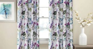Purple Blue Leaf Blackout Curtains Bedroom Drapes