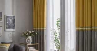 Stickerei Vorhang Mode einfache Wohnzimmer dekorative Vorhang einfarbig ... - ...