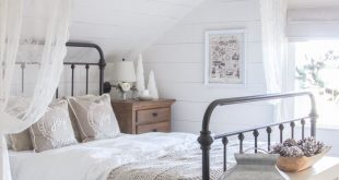White and Cream Christmas Bedroom