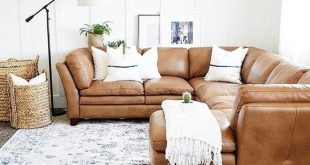 leather sectional sofa, modern farmhouse living room decor, bonus room decor, bo...